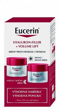 Eucerin HYALURON-FILLER+Volume-Lift krémy denný pre normálnu pleť 50 ml + nočný 50 ml (výhodná ponuka) 1x1 set