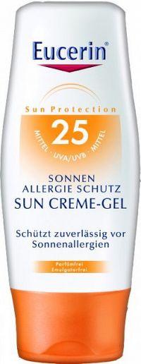 Eucerin SUN ALLERGY PROTECT SPF 25 ochranný krémový gél na opaľovanie proti alergii na slnko 1x150 ml