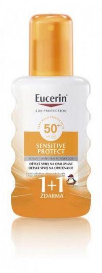 Eucerin Sun Sensitive Protect detský spray na opaľovanie SPF50 200 ml