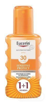 Eucerin SUN SENSITIVE PROTECT SPF 30 sprej transparentný na opaľovanie 2x200 ml (1+1 ), 1x1 set