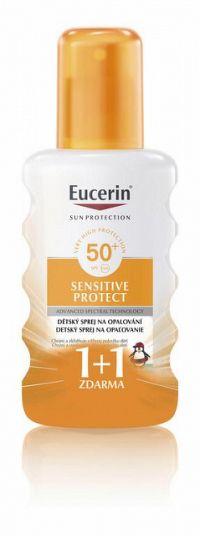 Eucerin SUN SENSITIVE PROTECT SPF 50+ detský sprej na opaľovanie 2x200 ml (1+1 ), 1x1 set