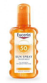 Eucerin SUN SENSITIVE PROTECT SPF 50 sprej transparentný na opaľovanie 1x200 ml