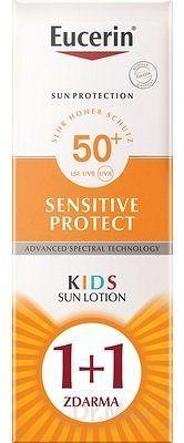 Eucerin SUN SENSITIVE PROTECT SPF50+ detské mlieko na opaľovanie 2x150 ml (1+1 ), 1x1 set