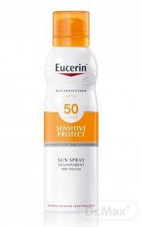 Eucerin SUN transparentný sprej na opaľovanie SPF 50+ pre citlivú pokožku, 1x200 ml