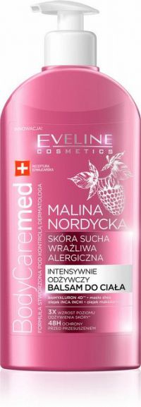 Eveline BodyCare Med+ výživný telový balzám s malinou 1x350ml