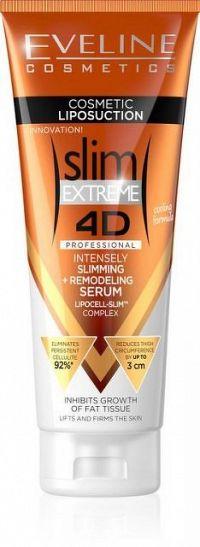 Eveline Cosmetics slim Extreeme 4D Liposukcia intenzívne zoštíhľujúce sérum remodelácie 250 ml