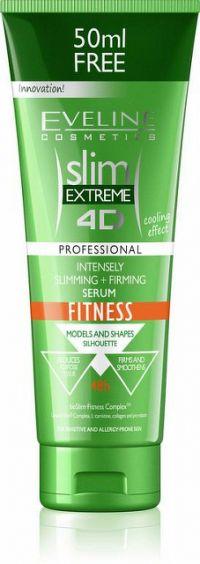 Eveline Cosmetics Slim Extreme 4D Fitness zeštíhlující a zpevňující sérum s chladivým efektem 250 ml