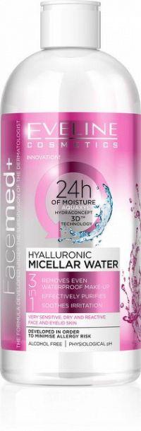 EVELINE FACEMED+ Hyaluronová micelárna voda 400 ml