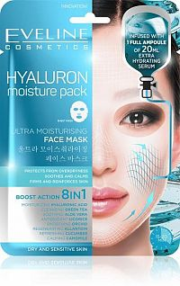 EVELINE HYALURON ULTRA MOISTURISING FACE SHEET MASK 1x20ml