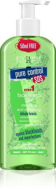 EVELINE Pure Control čistiaci a osviežujúci gél 200 ml