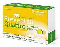 FARMAX Preventan Quattro s citrónovou príchuťou tbl 1x24 ks