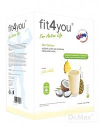 Fit4You Diet Shake PIŇA COLADA prášok na prípravu nápoja vo vrecúškach (á 33g) 1x10 ks