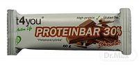 Fit4You Protein Bar 30% ČOKOLÁDA nízkokalorická proteínová tyčinka 1x60 g