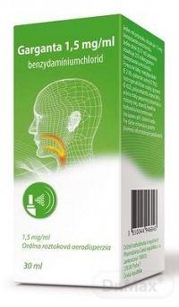 Garganta 1,5 mg/ml aer ors (fľ.HDPE) 150 dávok 1x30 ml