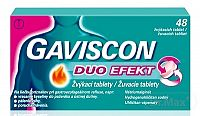 GAVISCON DUO EFEKT žuvacie tablety tbl mnd (blis.) 1x48 ks