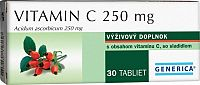 GENERICA Vitamin C 250 mg tbl 1x30 ks