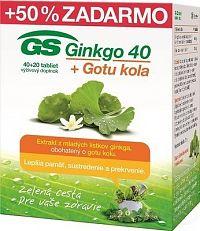 GS Ginkgo 40 + Gotu kola tbl 40+20 (60 ks)