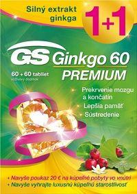GS Ginkgo 60 PREMIUM + 2018 tbl 60+60 (120 ks) + ový pokaz, 1x1 set