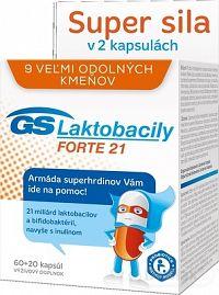 GS Laktobacily FORTE 21 60+20 kapsúl