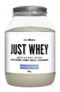 GymBeam Proteín Just Whey sušený srvátkový proteínový prášok, príchuť biela čokoláda a kokos, 1x1000 g
