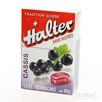 Halter BONBONS Čierna ríbezľa cukríky bez cukru, 1x40 g