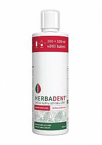 HERBADENT Bylinná ústna voda 300 + 100 ml (400 ml)