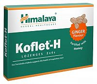 Himalaya Koflet-H Ginger bylinné pastilky s medom, 12 ks