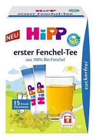 HiPP BIO Prvý Feniklový čaj rozpustný čaj vo vrecuškach po 0,36 g (5,4 g) 1x15 ks