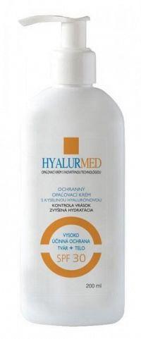 HYALURMED ochranný opaľovací krém s kyselinou hyalurónovou 200 ml