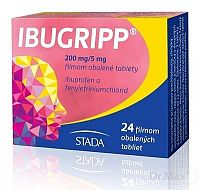IBUGRIPP tbl flm (blis.PVC/PE/PVDC) 200 mg/5 mg 1x24 ks