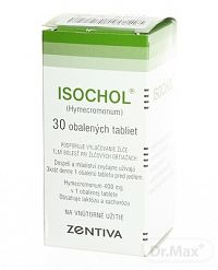 ISOCHOL tbl obd 400 mg (fľ. skl. hnedá) 1x30 ks