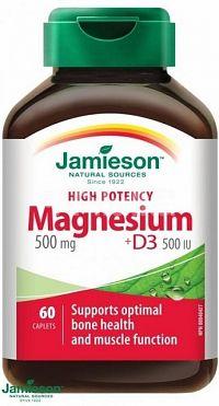 Jamieson Horčík 500 mg s vitamínom D3 500 IU 60 kapsúl