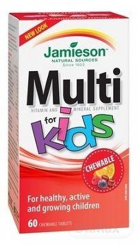 JAMIESON MULTI KIDS MULTIVITAMÍN tbl na cmúľanie pre deti 1x60 ks