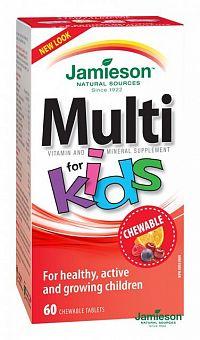 JAMIESON Multi Kids with Iron 60 cmúľacích tabliet