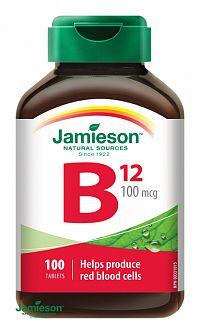 JAMIESON VITAMÍN B12 METYLKOBALAMIN 100 µg tbl 1x100 ks