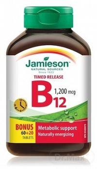 JAMIESON VITAMÍN B12 METYLKOBALAMÍN 1200 μg tbl s postupným uvoľňovaním 60+20 zadarmo (80 ks)