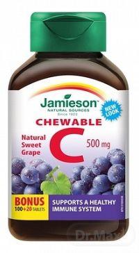 JAMIESON VITAMÍN C 500 mg hrozno tbl na cmúľanie, 100+20 (120 ks)