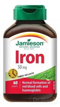 JAMIESON ŽELEZO 50 mg S POSTUPNÝM UVOĽŇOVANÍM tbl 1x60 ks