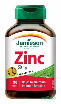 JAMIESON ZINOK S POSTUPNÝM UVOĽŇOVANÍM 50 mg tbl 1x90 ks
