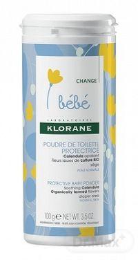 KLORANE BEBE POUDRE DE TOILETTE PROTECTRICE (inovácia 2018) ochranný detský púder 1x100 g