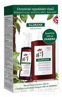 KLORANE FORCE TRI-ACTIVE sérum 100 ml + SHAMPOOING À LA QUININE,VIT.B 200 ml , 1x1 set