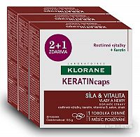 KLORANE KERATINcaps (TRIO) 3x30 kapsúl