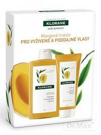 KLORANE SHAMPOOING AU BEURRE DE MANGUE s mangovým maslom (šampón 400 ml + balzam 200 ml ) 1x1 set