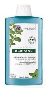 KLORANE SHAMPOOING DETOX Menthe BIO (inov.2021) detoxikačný šampón s výťažkom z bio mäty 1x400 ml