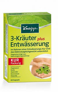 Kneipp 3 bylinky na odvodnenie 1 x 60 cps