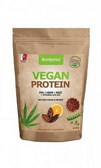 Kompava VEGAN PROTEIN prášok, 100% rastlinný proteín, čokoláda a pomaranč, 1x525 g