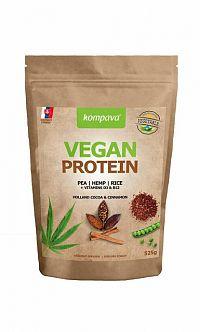 kompava VEGAN PROTEIN prášok, 100% rastlinný proteín, čokoláda a škorica, 1x525 g