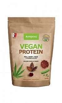Kompava VEGAN PROTEIN prášok, 100% rastlinný proteín, čokoláda a višňa, 1x525 g