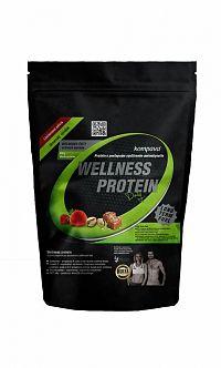 Kompava WELLNESS PROTEIN Daily prášok, príchuť jahoda a malina, 1x525 g