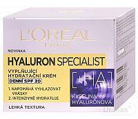 L'Oréal Hyaluron Specialist vyplňujúci hydratačný krém SPF 20 50 ml